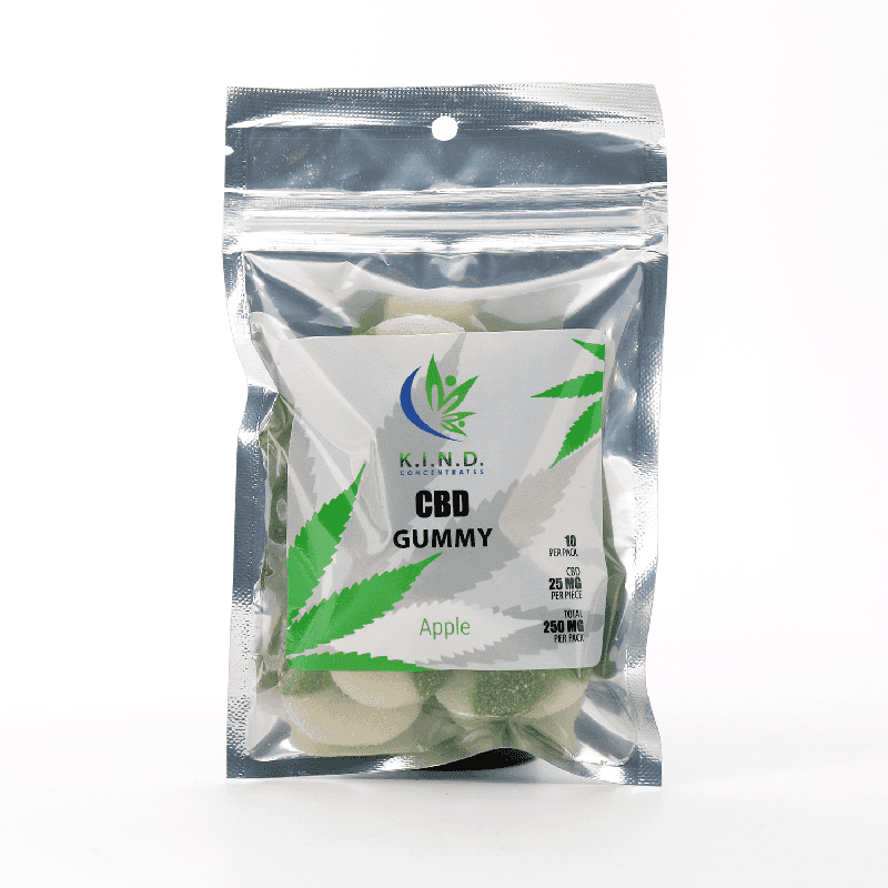 K.I.N.D. Concentrates CBD edibles gummies