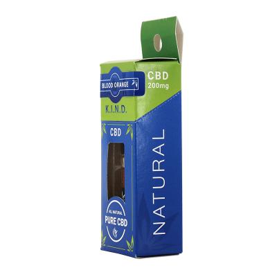 KIND Concentrates Blood Orange CBD vape cartridge box side view
