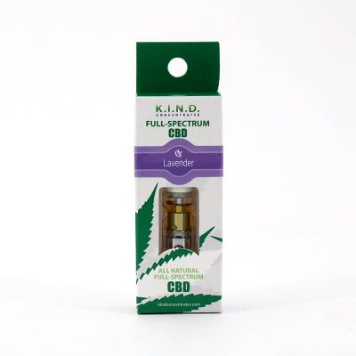 K.I.N.D. CBD - Lavender CBD vape oil cartridge