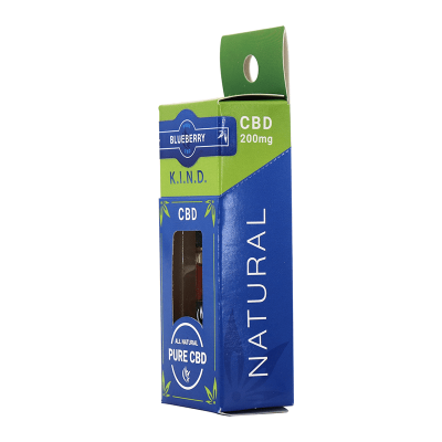 KIND Concentrates Blueberry CBD vape cartridge box side view