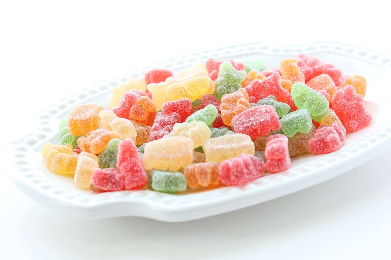 gummy candies on a plate