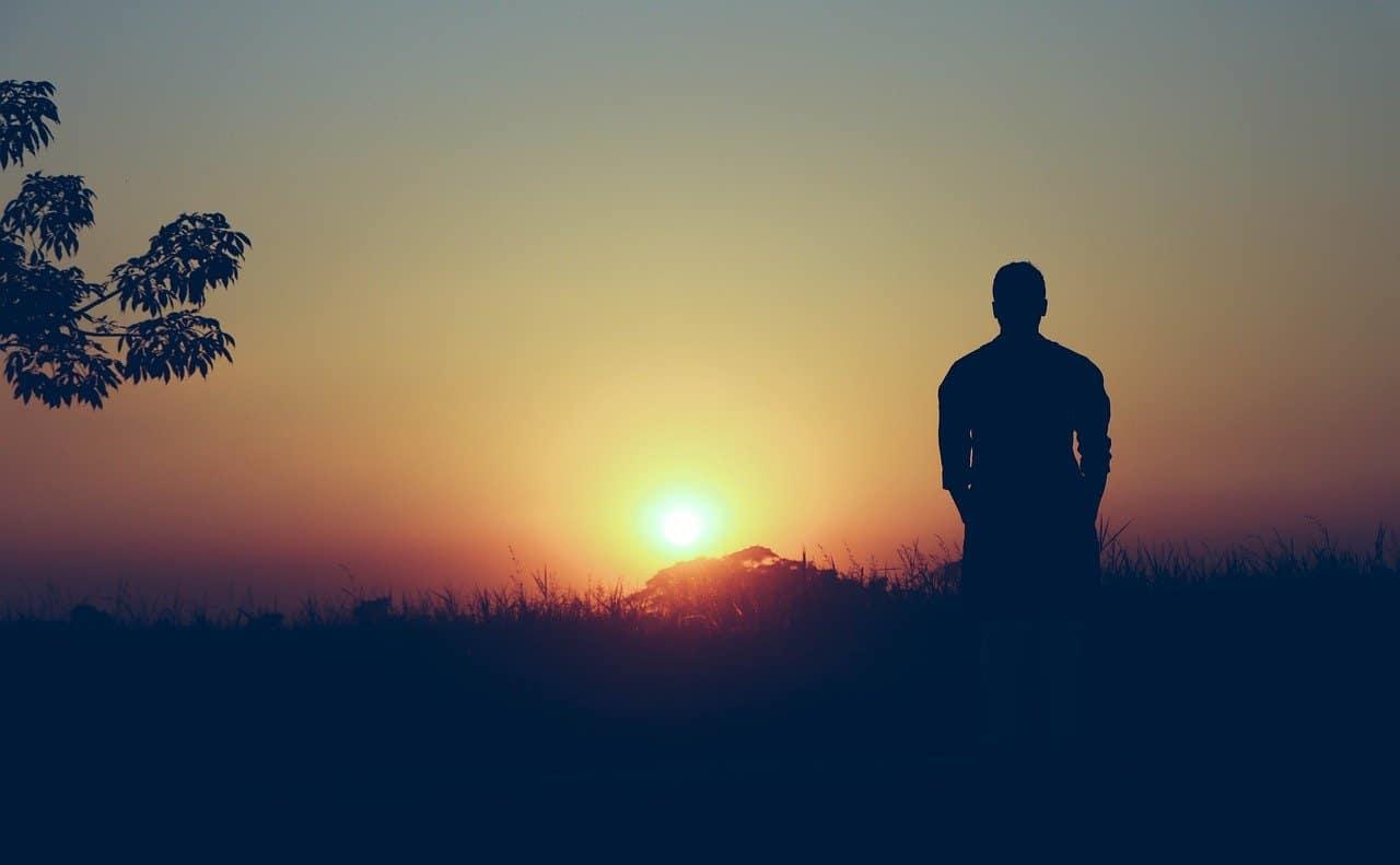 man on a sunset